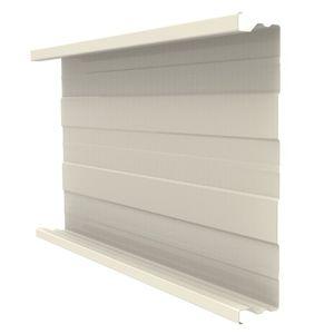 panel cladding / sheet metal / ribbed / standing seam