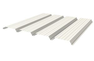 perforated metal sheet / ribbed / galvanized steel / for roofs