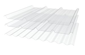 polyester roofing sheet / corrugated / translucent