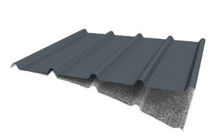 sheet steel roofing / corrugated