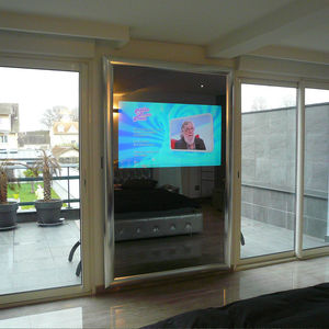 wall-mounted TV mirror
