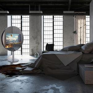 floor-standing TV mirror