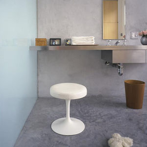 contemporary stool / fabric / leather / cast aluminum