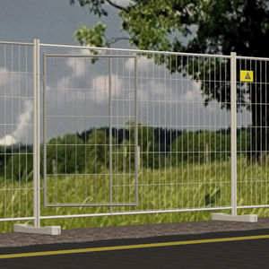 construction site fence / for roads / wire mesh / galvanized steel