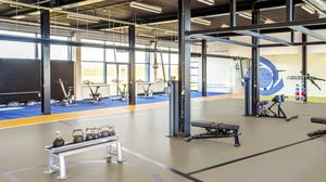 linoleum sports flooring / indoor / for multipurpose gyms