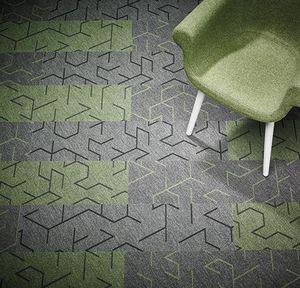 textile flooring / tertiary / tile / embossed