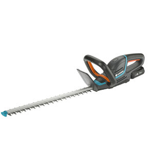battery-powered hedge trimmer