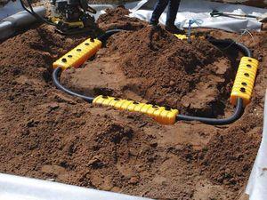 tree irrigation system / in-ground / spray watering
