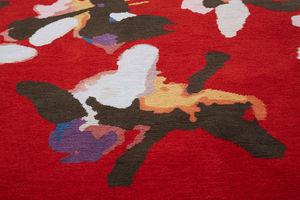 contemporary rug / floral / wool / rectangular