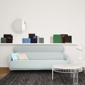 contemporary sofa / fabric / leather / by Éric Jourdan
