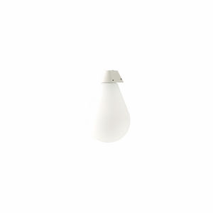 contemporary wall light / lacquered aluminum / opalescent glass / compact fluorescent