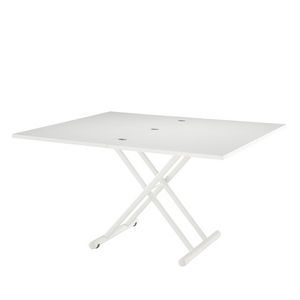 contemporary table / lacquered MDF / lacquered metal / lacquered steel
