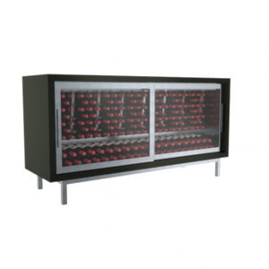 commercial wine cabinet / stainless steel / wooden / electric