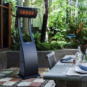 floor-mounted infrared patio heater / free-standing / gas / portable