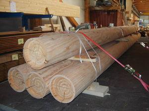 wooden prefabricated pillar