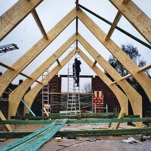glue-laminated wood portal frame