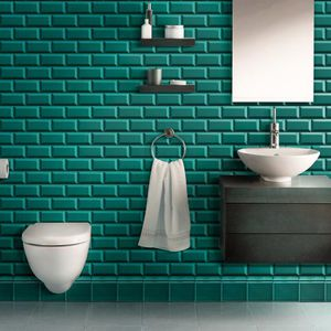 indoor mosaic tile / wall / ceramic / square