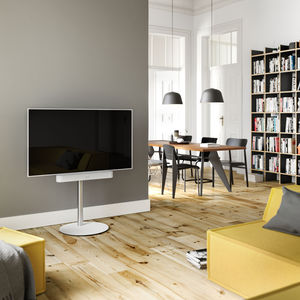 contemporary TV stand / glass / steel