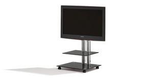 contemporary TV stand / glass / aluminium