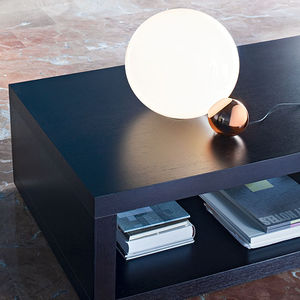 table lamp / contemporary / aluminum / blown glass