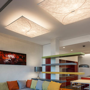contemporary ceiling light / square / fabric / polyamide
