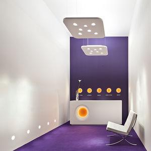 hanging light fixture / fluorescent / halogen / square