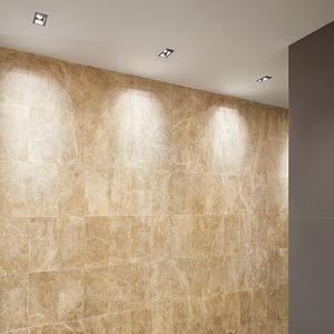 recessed ceiling downlight / halogen / square / cast aluminum