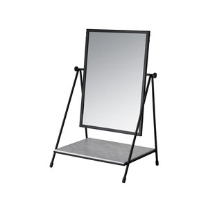 table mirror / with shelf / swivel / contemporary