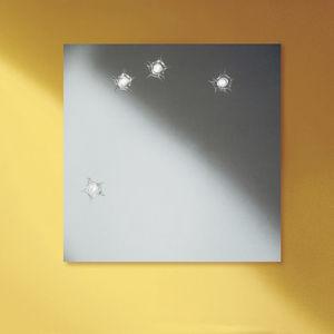 wall-mounted mirror / illuminated / contemporary / round