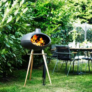wood-burning barbecue