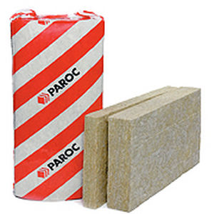 thermal-acoustic insulation / stone wool / wall / rigid panel