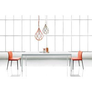 contemporary table / ceramic / steel / metal base
