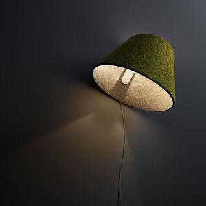 contemporary wall light / leather / felt / LED