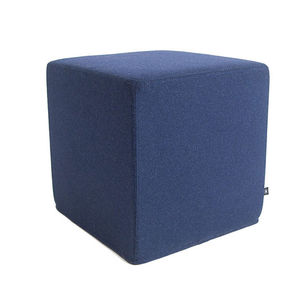 contemporary pouf / foam / square / upholstered