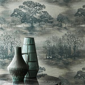 contemporary wallpaper / vinyl / nature pattern / fabric look