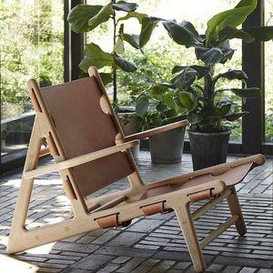 oak deck chair