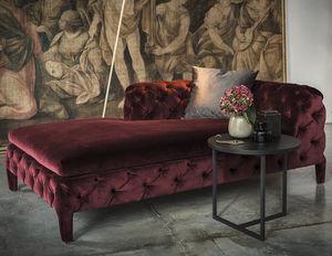 Chesterfield daybed / velvet / cotton / indoor