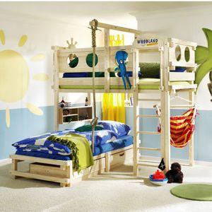 corner bunk bed / single / contemporary / child's unisex