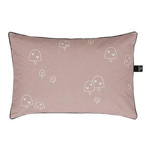 rectangular cushion / patterned / cotton / white