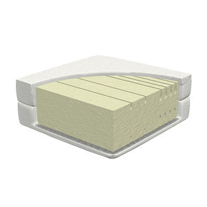 single mattress / foam / 120x200 cm / with washable removable cover