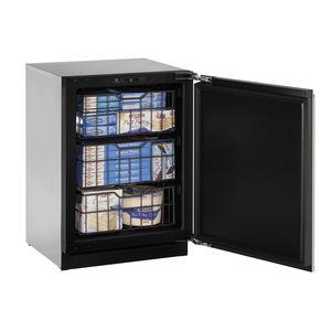 undercounter freezer / black / built-in