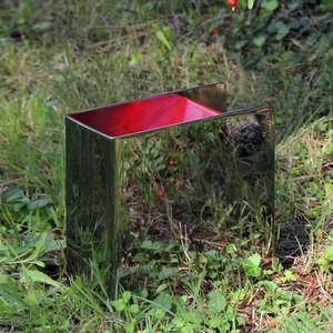 garden bollard light / contemporary / stainless steel / LED