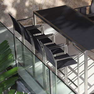 contemporary bar chair / metal / outdoor