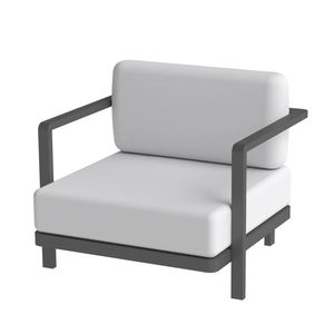 contemporary armchair / fabric / aluminum / outdoor