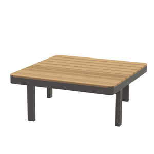 contemporary coffee table / wooden / aluminum / ceramic