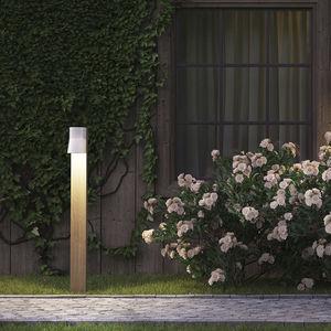 garden bollard light / contemporary / wooden / LED