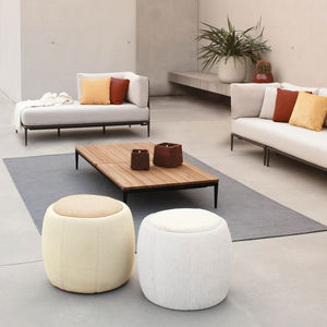 traditional pouf / fabric / upholstered / outdoor