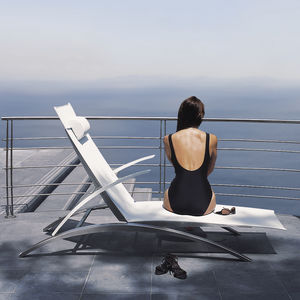 contemporary sun lounger / Batyline® / aluminum / stainless steel