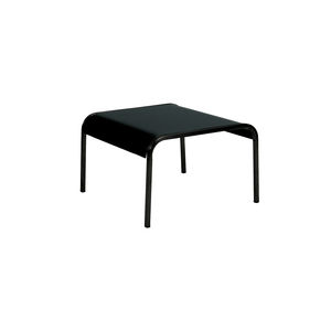 contemporary side table / aluminum / stainless steel / square