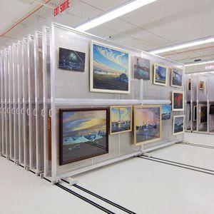 sliding art rack